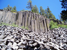 Posts and big talus pile